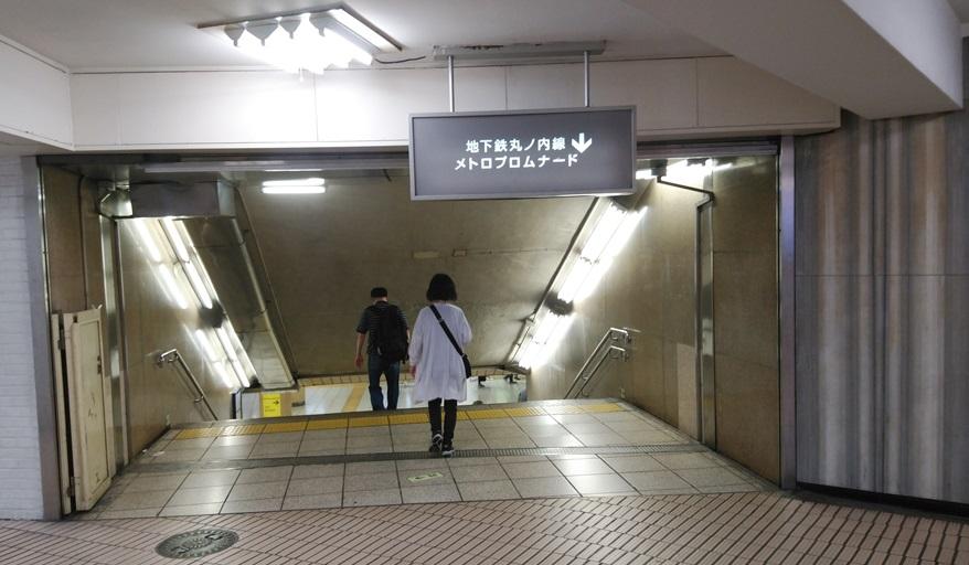 新宿東口地下ルートカーブ2