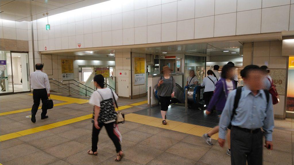 蒲田駅東口階段