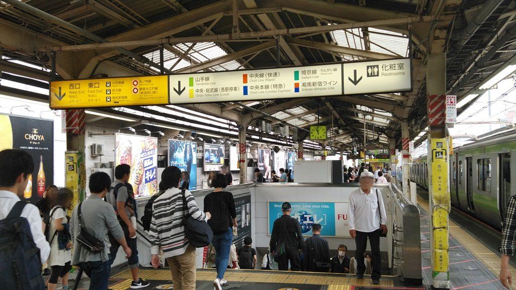 JR新宿駅山手線外回りホーム