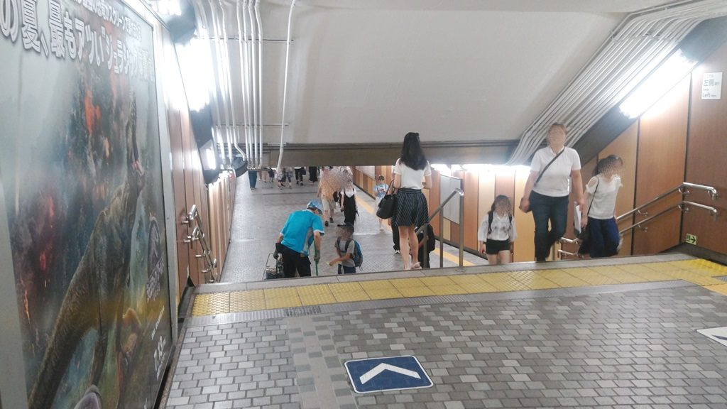 日比谷線上野駅へ2
