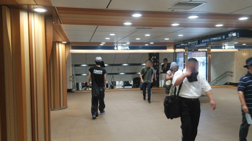 日比谷線上野駅へ3