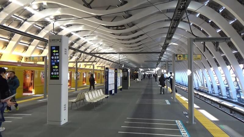 東横線から新銀座線10
