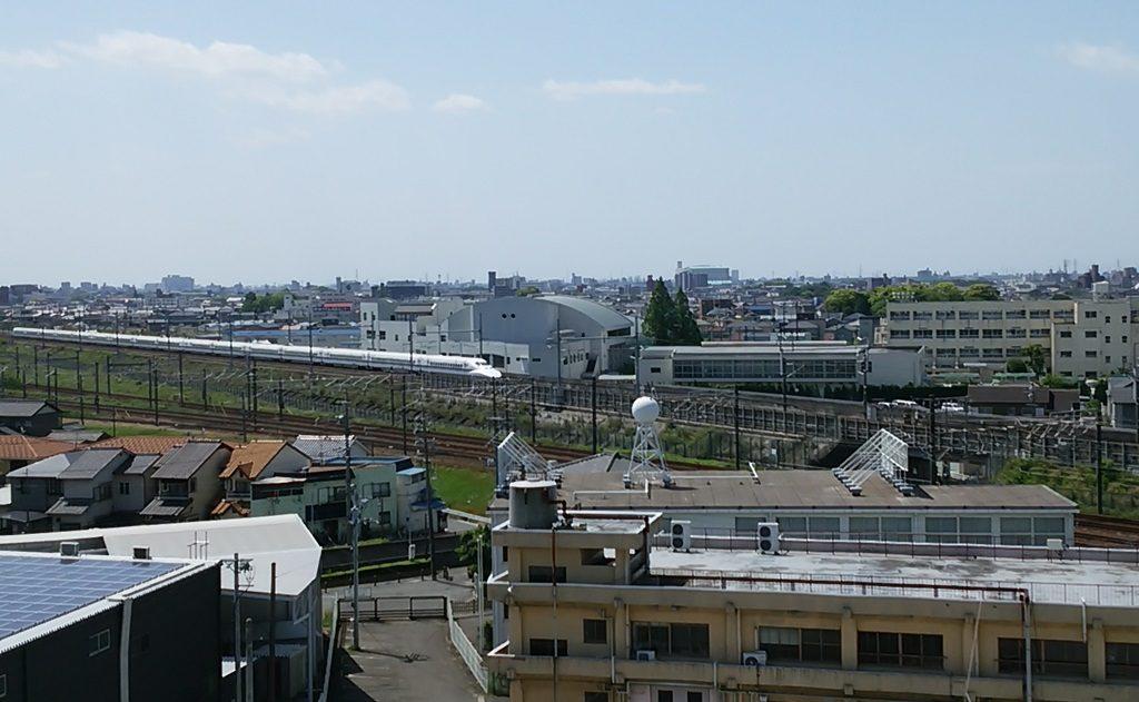 清洲城から新幹線1