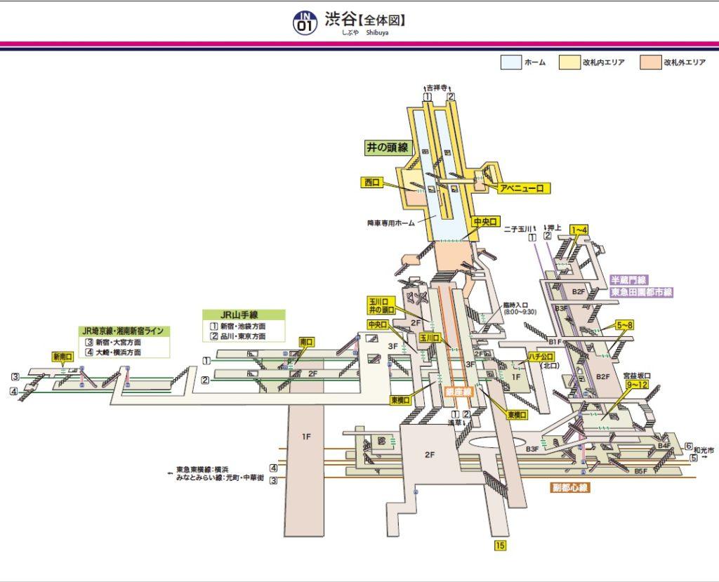 渋谷駅全体図(京王HPより)