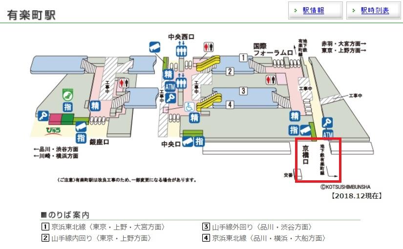 JR有楽町構内図
