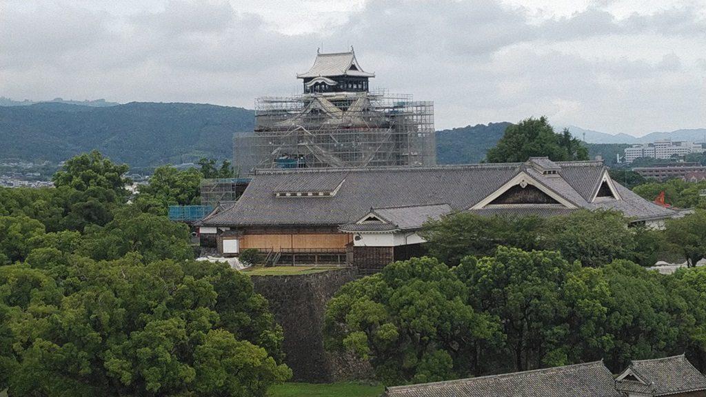市役所から熊本城
