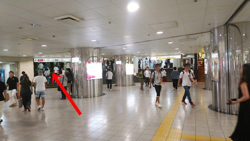 新線新宿からJR