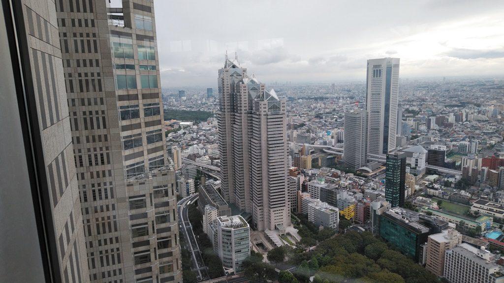 都庁から見たパークタワー