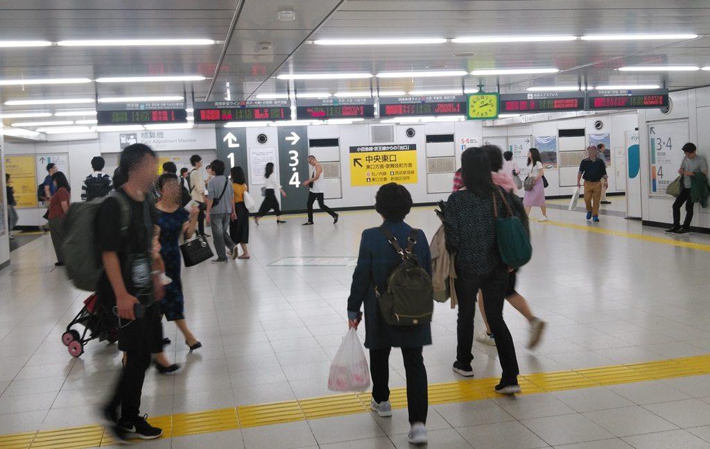 中央西口から埼京線3