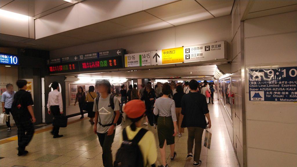 中央通路経由埼京線から山手線2