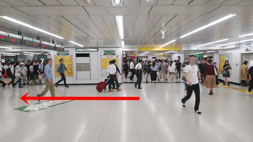 中央通路経由埼京線から山手線