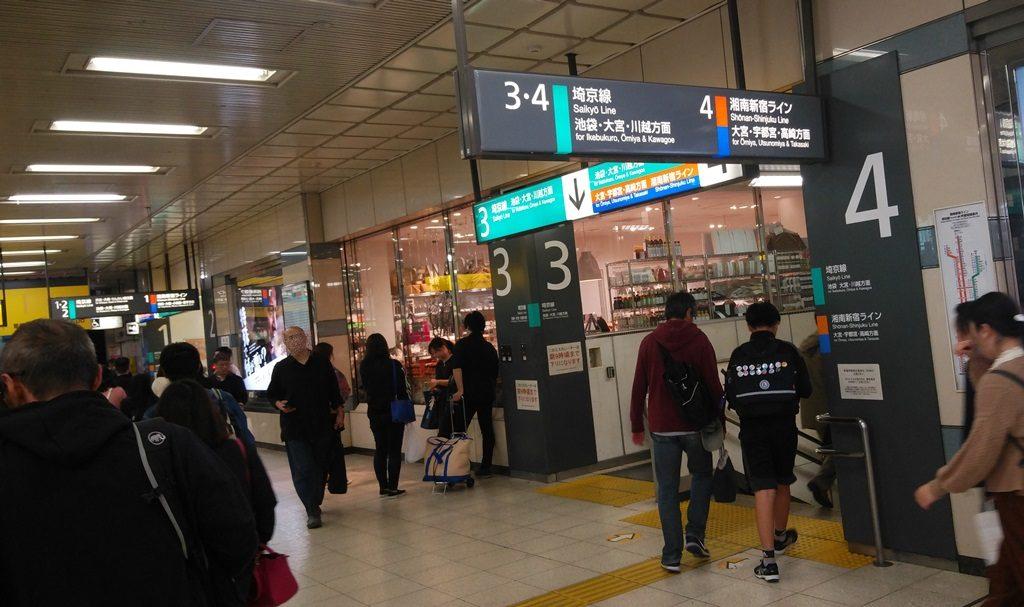 南連絡口から埼京線3