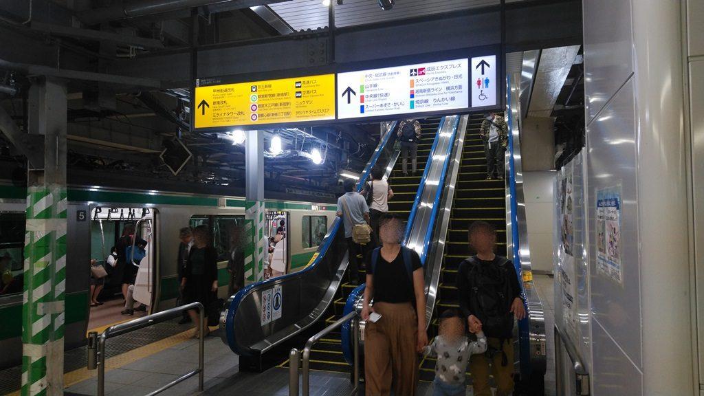 埼京線新南改札方面階段