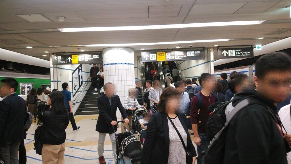 東横線横浜駅ホーム南方面