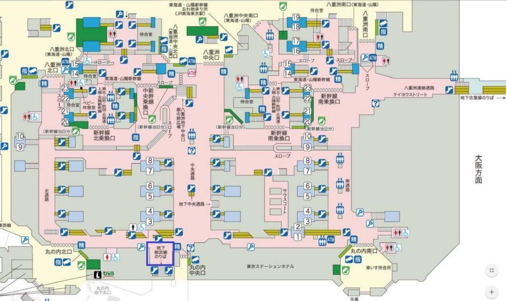 東京駅1階平面図横須賀総武本線