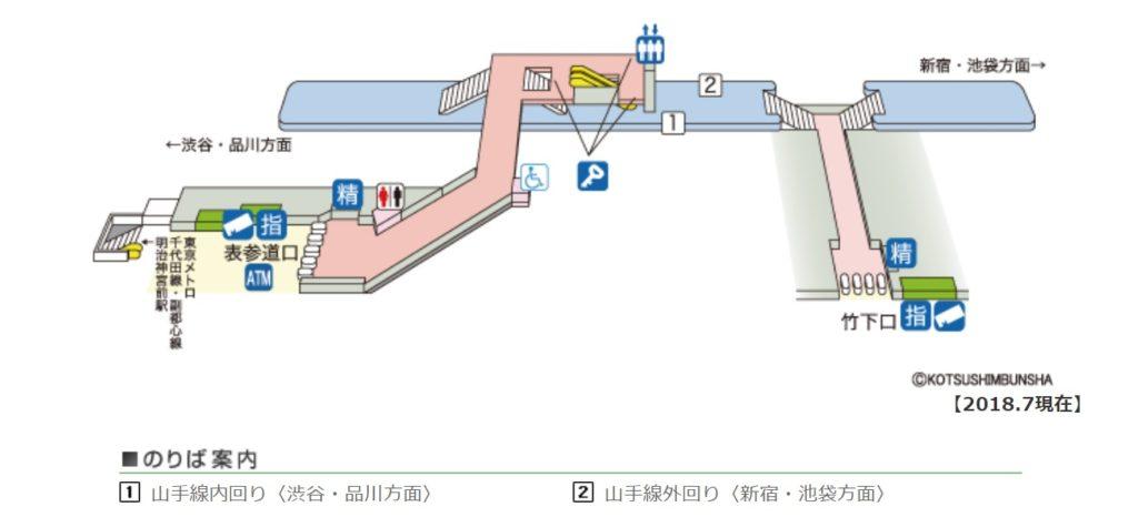 原宿駅構内図