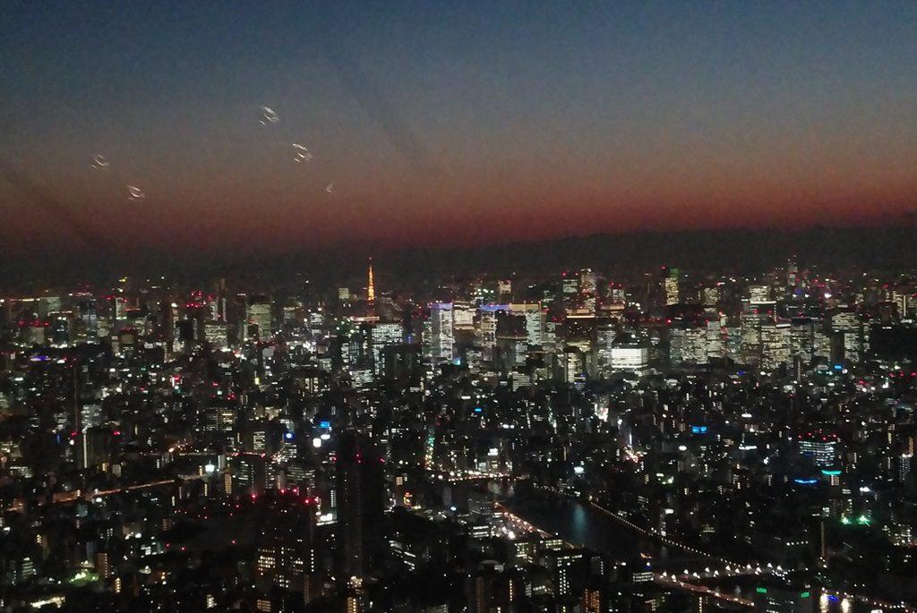 展望デッキから見た東京タワー