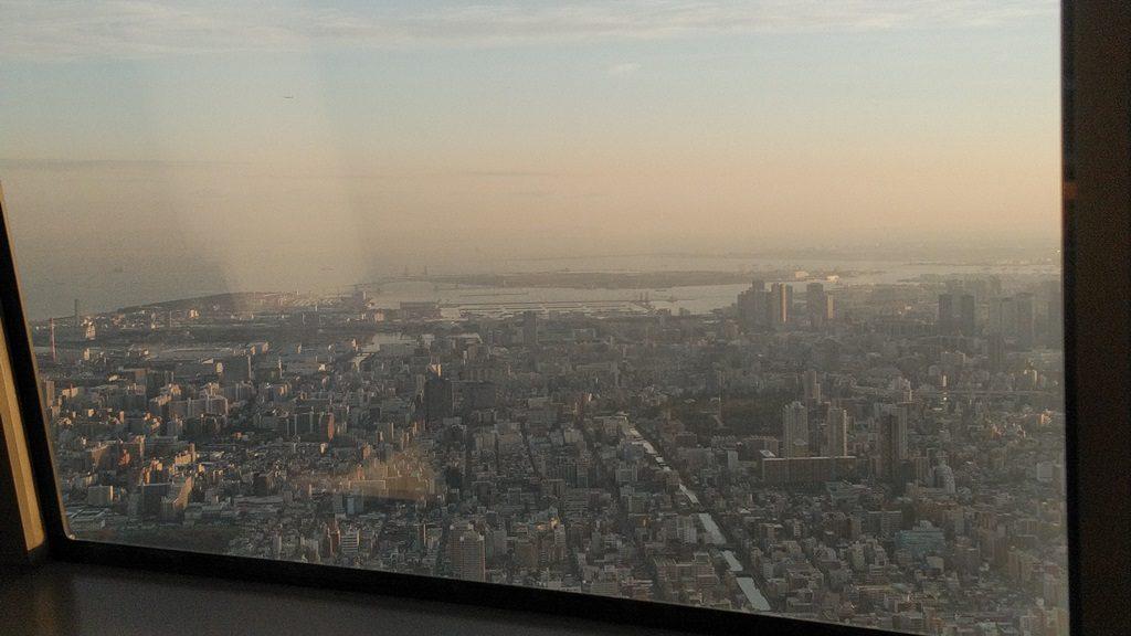 展望回廊から東京湾