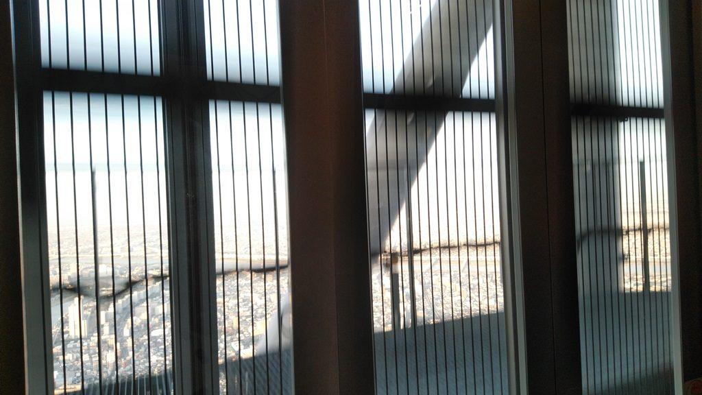 展望回廊行きエレベーターからの景色