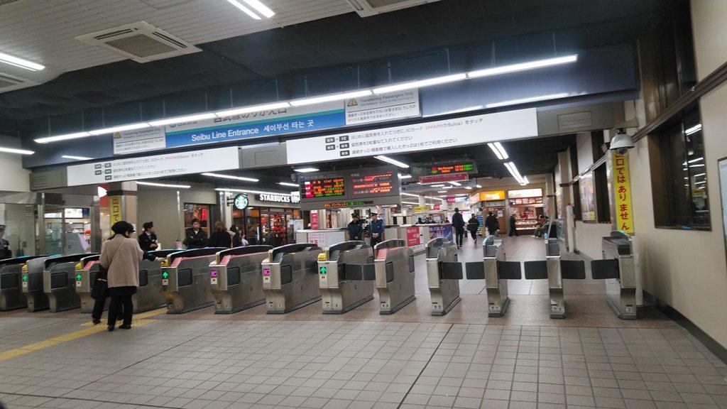 西武新宿線乗換改札