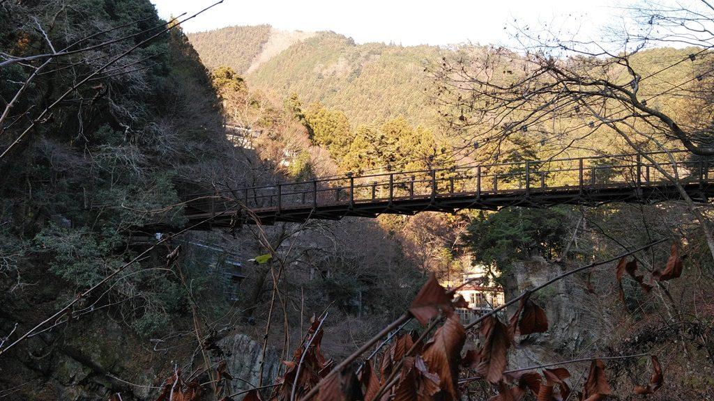 吊り橋下から
