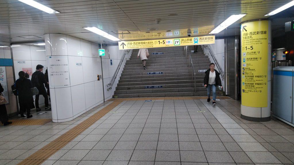 東西線から西武新宿線