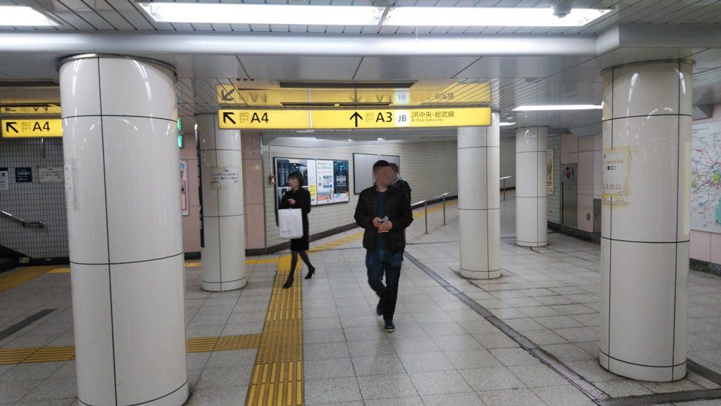 東西線からJR2