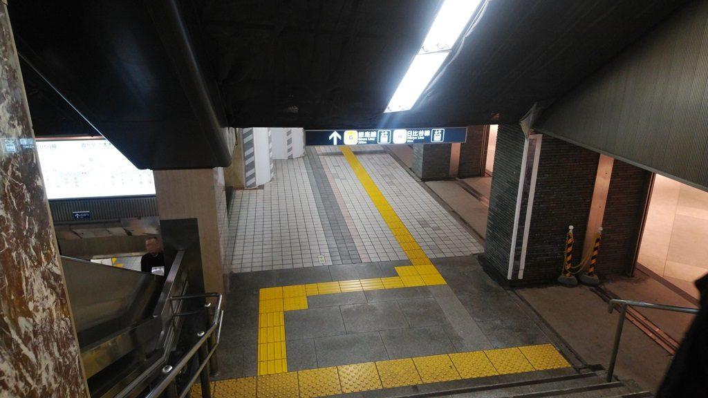 JRから地下鉄地下10