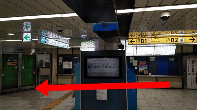 千代田線からJR6