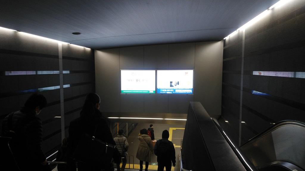 大門改札から大江戸線2