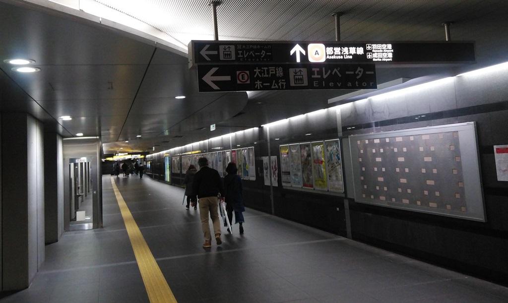 大門改札から浅草線2