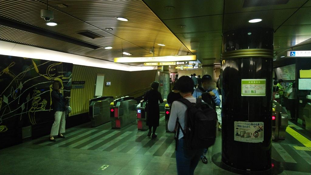 大江戸線から日比谷線6