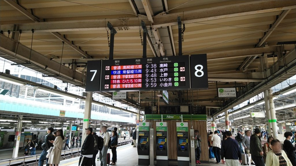 東京駅上野東京ラインホーム