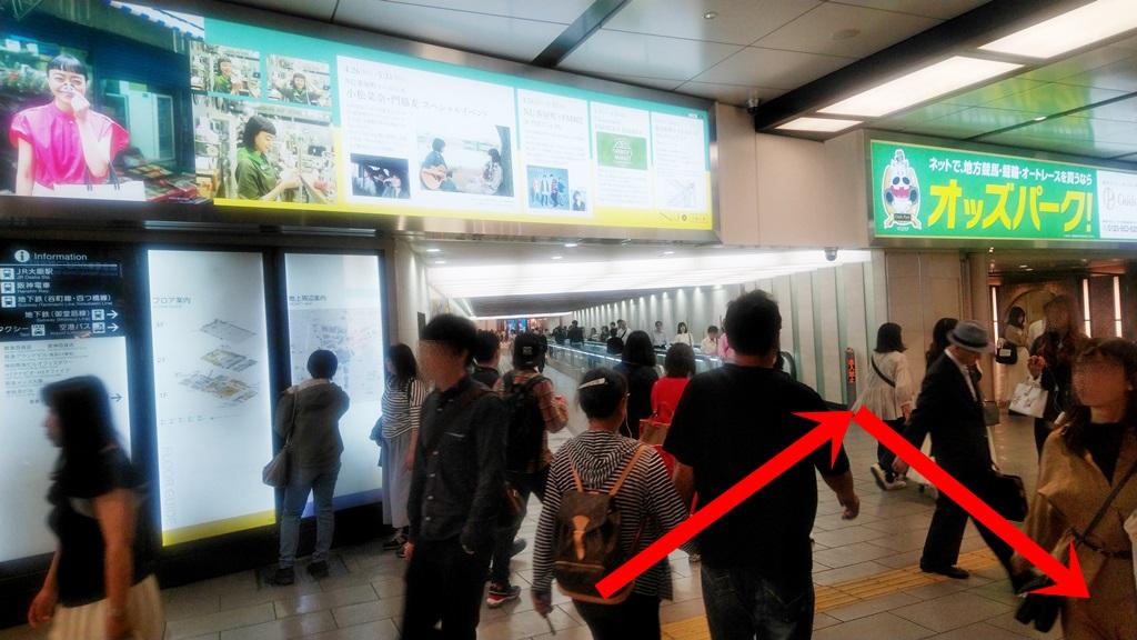 阪急3階から御堂筋1