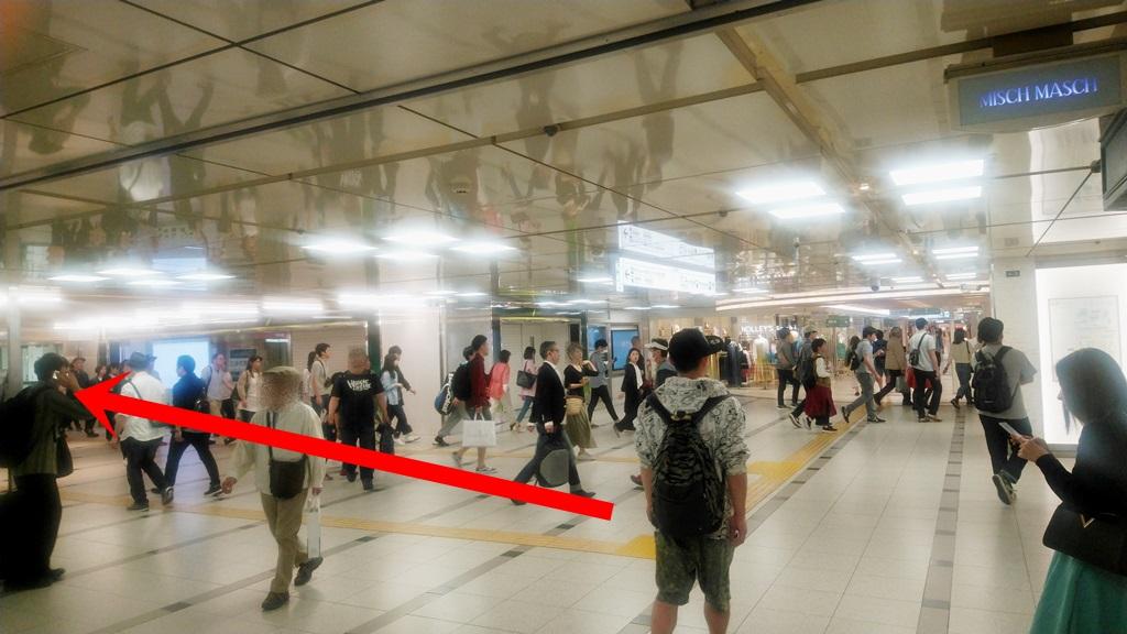 阪急3階から御堂筋3