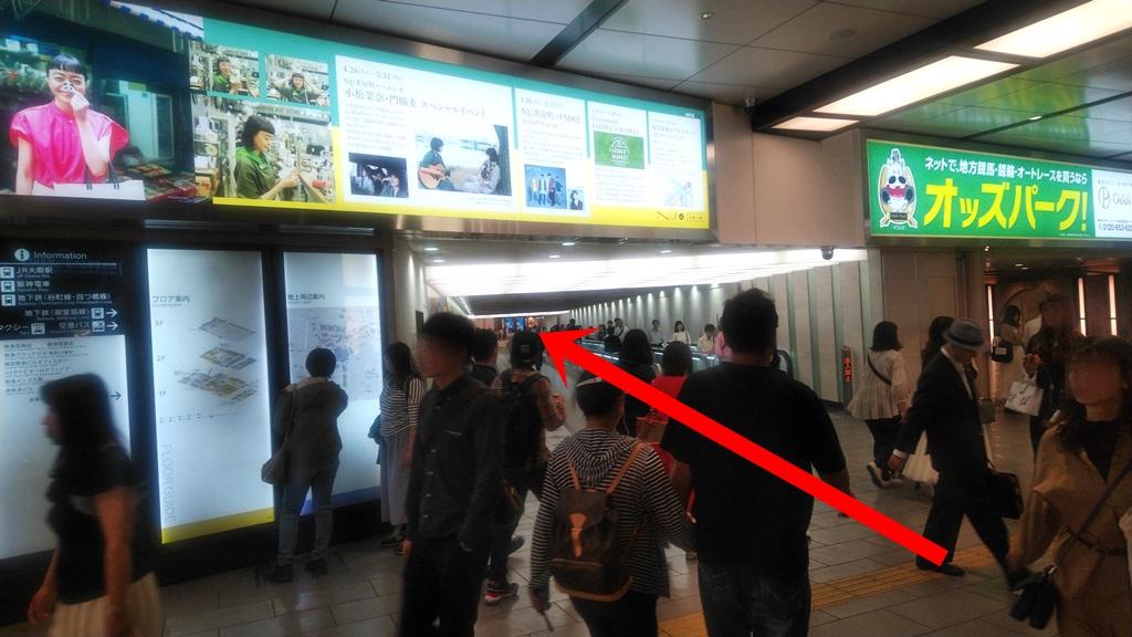 阪急3階から阪神2