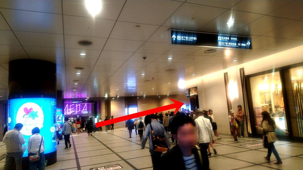阪急3階から阪神4