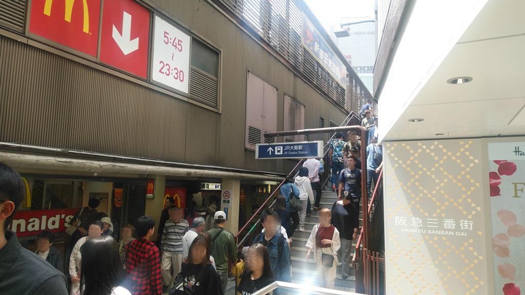阪急3階からJR2