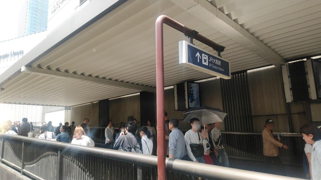 阪急3階からJR3