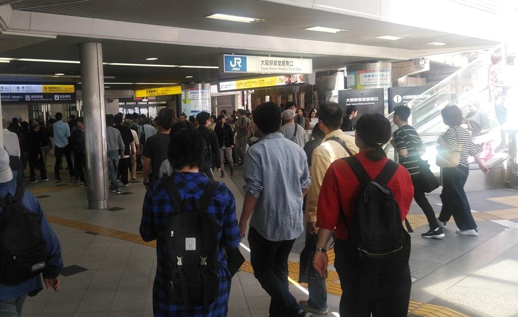 阪神東口からJR6