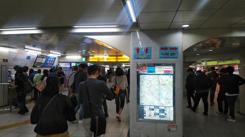 阪神西口からJR1