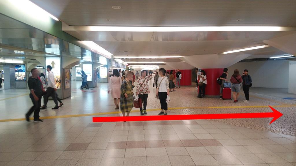 阪神西口からJR2