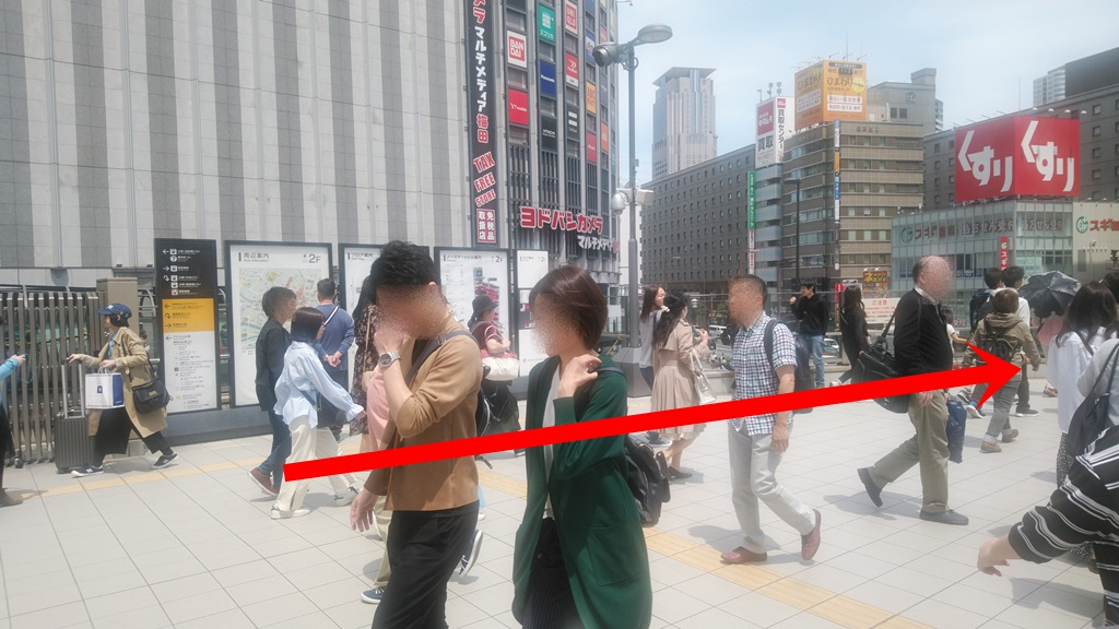 JRから阪急4
