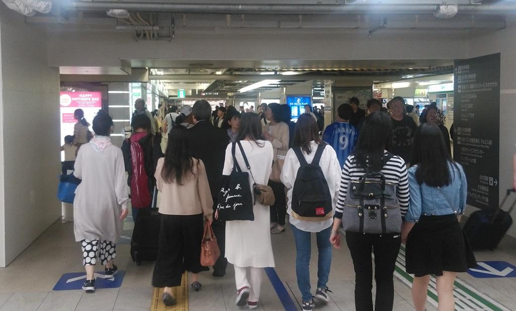 JR中央口から阪神6