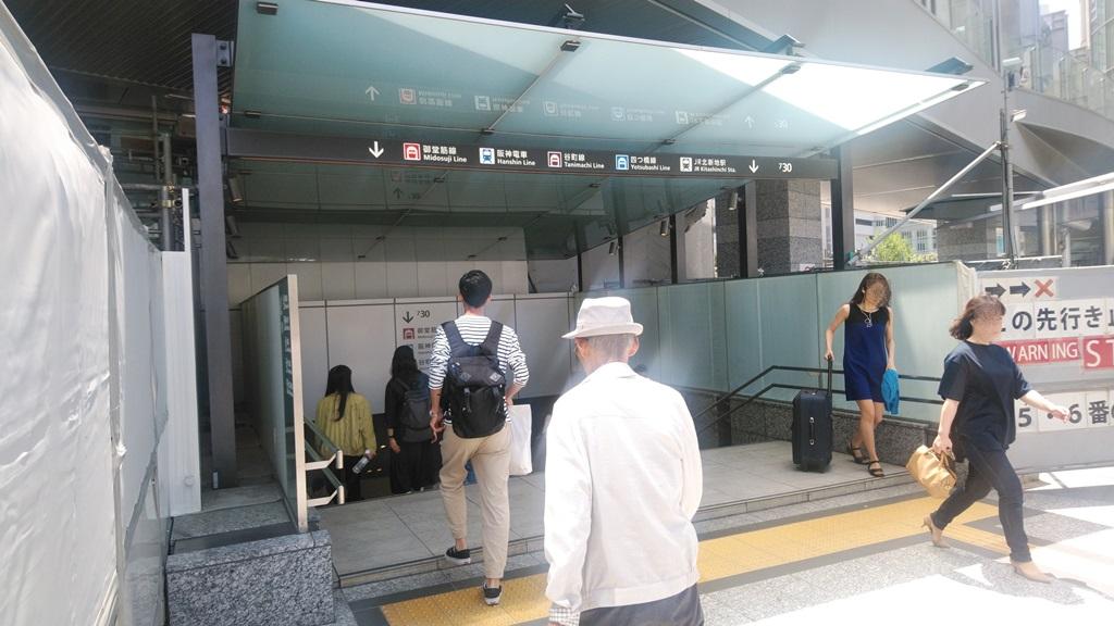 JR御堂筋口から阪神5