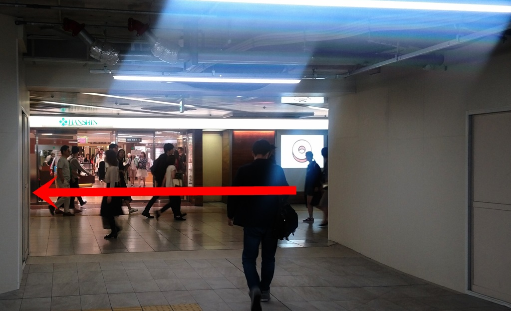 JR御堂筋口から阪神6