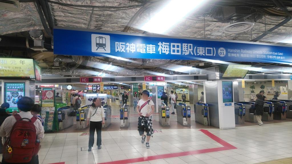 JR御堂筋口から阪神9