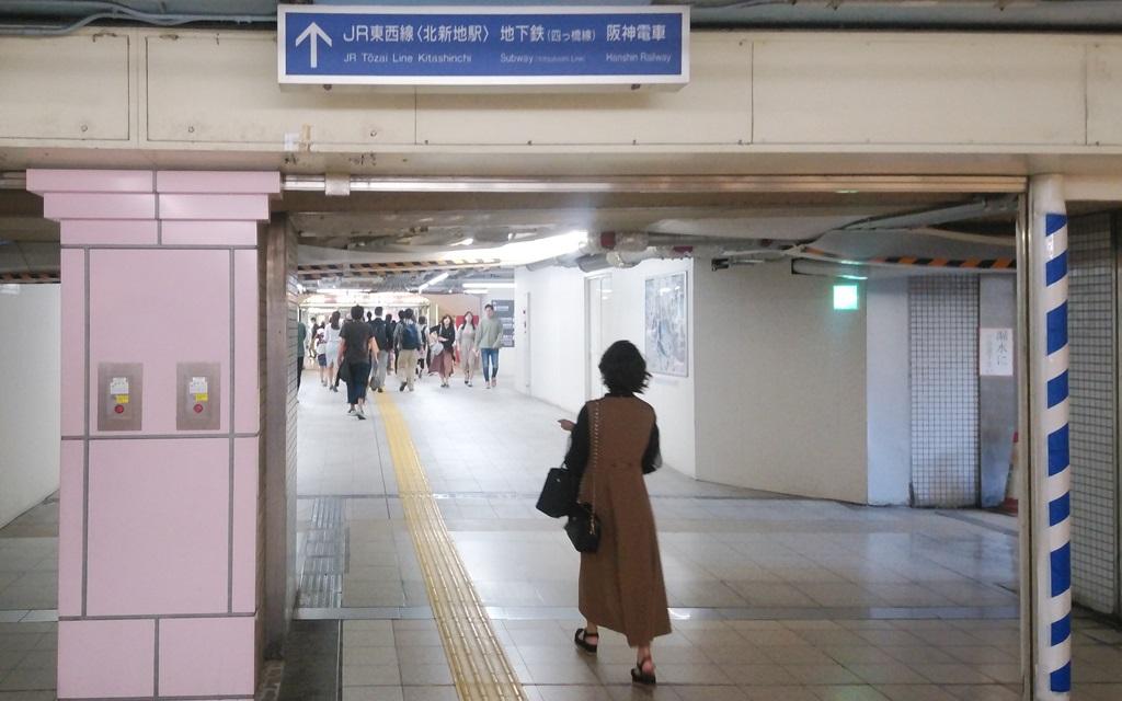 JR桜橋口から阪神6