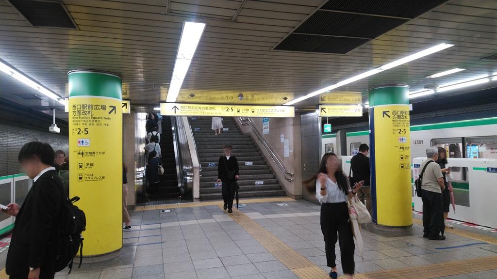 千代田線から常磐線1