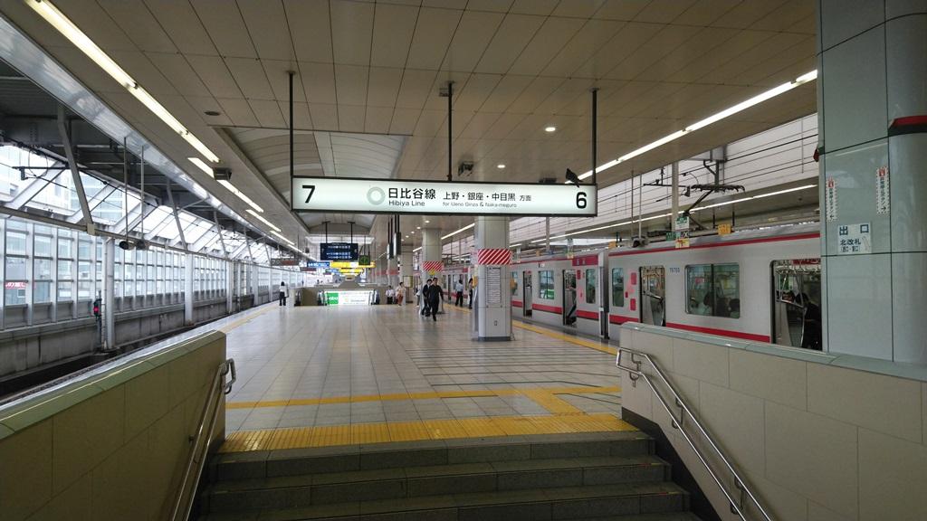 千代田線から日比谷線北10
